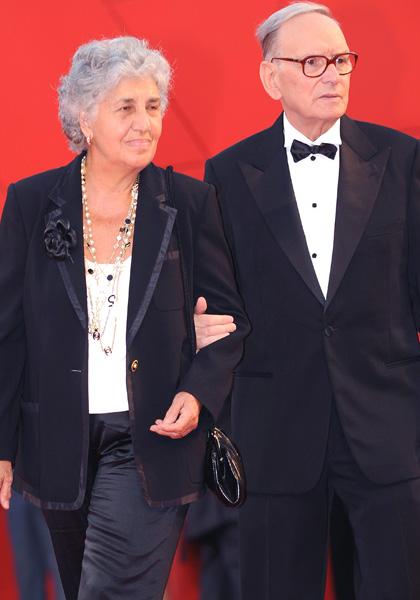 In foto Ennio Morricone (91 anni) Dall'articolo: Baarìa: il red carpet.