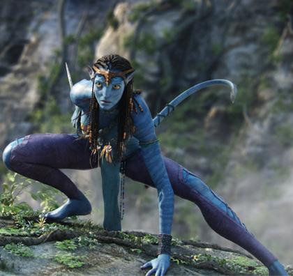 In foto Zoe Saldana (41 anni) Dall'articolo: Avatar: nuove immagini dei Na'vi.