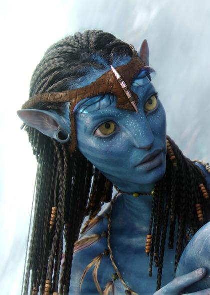 In foto Zoe Saldana (42 anni) Dall'articolo: Avatar: nuove immagini dei Na'vi.
