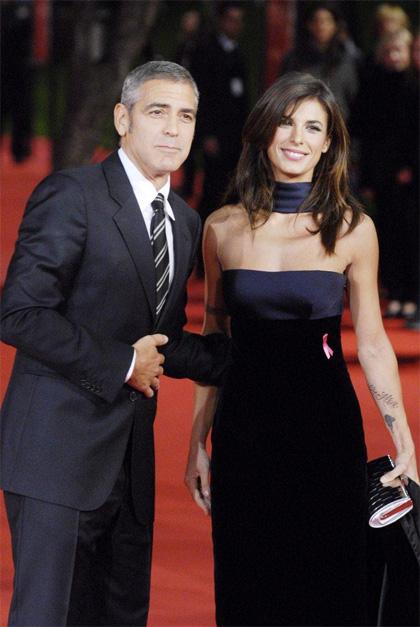 George Clooney ed Elisabetta Canalis conquistano Roma