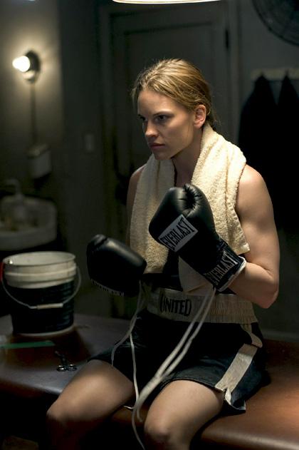 In foto Hilary Swank (45 anni) Dall'articolo: Film in Tv: A perenne memoria.