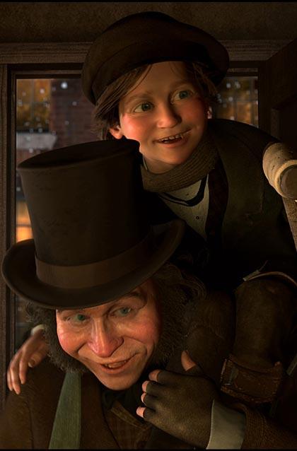 Una scena del film -  Dall'articolo: A Christmas Carol: nuove immagini.