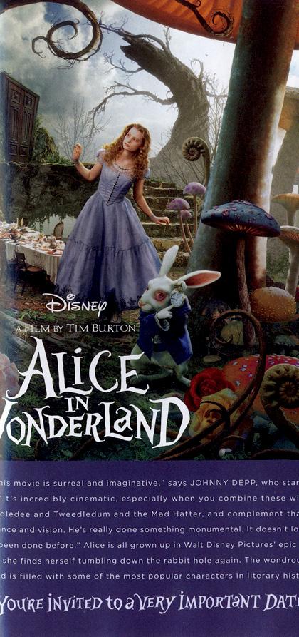 In foto Mia Wasikowska (30 anni) Dall'articolo: Alice in Wonderland: nuovo poster.