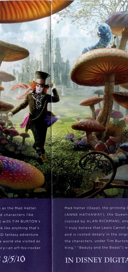 In foto Alan Rickman Dall'articolo: Alice in Wonderland: nuovo poster.