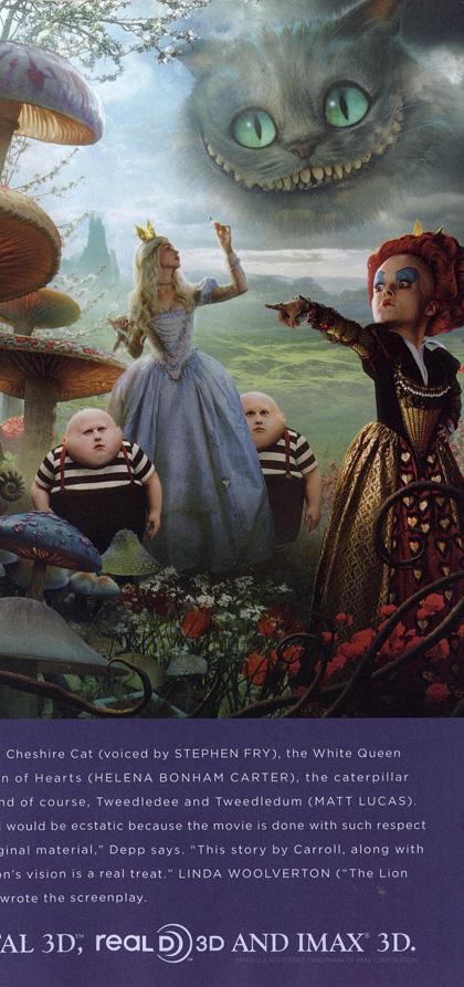 In foto Helena Bonham Carter (53 anni) Dall'articolo: Alice in Wonderland: nuovo poster.