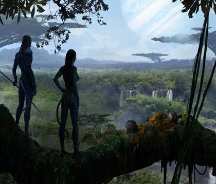 Un concept art del film -  Dall'articolo: Avatar: una valanga di nuove immagini.