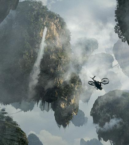 Una visuale di Pandora -  Dall'articolo: Avatar: una valanga di nuove immagini.