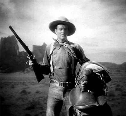 In foto John Wayne Dall'articolo: Storia 'poconormale' del cinema: il West (2).