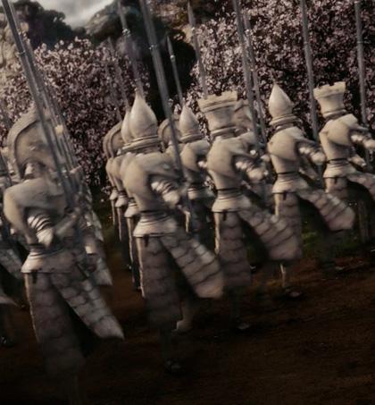 L'armata della regina Bianca -  Dall'articolo: Alice in Wonderland: le immagini e il secondo trailer ufficiale.