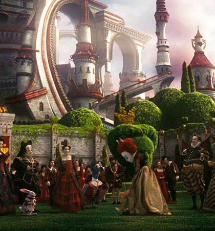 In foto Helena Bonham Carter (55 anni) Dall'articolo: Alice in Wonderland: le immagini e il secondo trailer ufficiale.