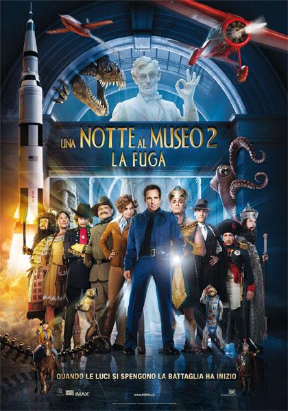 Quando le luci si spengono la battaglia ha inizio -  Dall'articolo: Una notte al museo 2: la locandina italiana.
