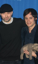 Mammoth, photo call del film - Il regista Lukas Moodysson con Gael García Bernal
