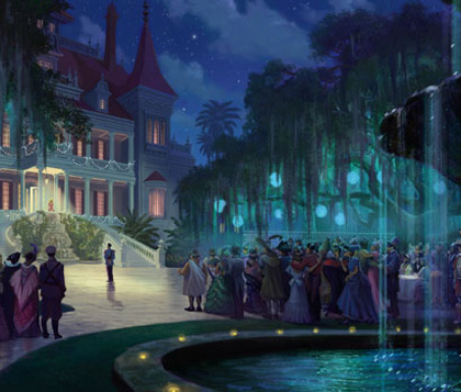 Una scena del film -  Dall'articolo: The Princess and the Frog: i concept art.
