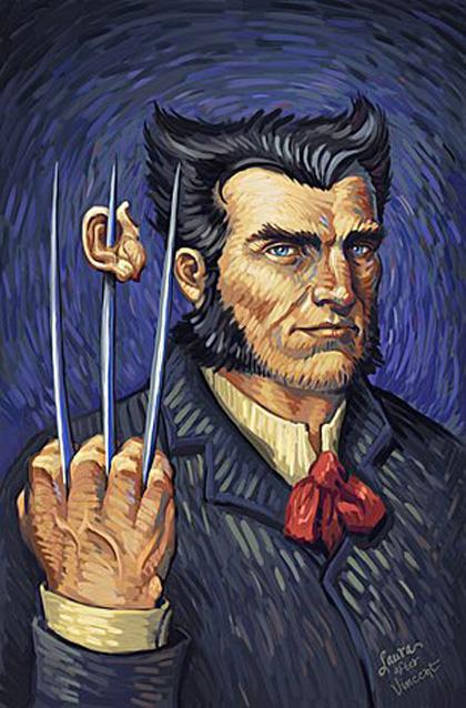 Wolverine come l'avrebbe visto Vincent van Gogh -  Dall'articolo: Marvel celebra il 35 anniversario di Wolverine.