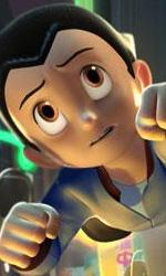 Astro Boy mentre vola per la città -  Dall'articolo: Astro Boy: nuove immagini.