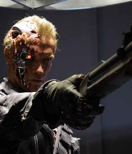 Il T-850 mandato a proteggere John Connor in Terminator 2 -  Dall'articolo: Terminator: foto dalla mostra giapponese.