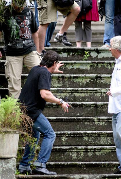 In foto Sylvester Stallone (73 anni) Dall'articolo: The Expendables: prime immagini dal set.