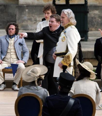 In foto James Corden (40 anni) Dall'articolo: Gulliver's Travels: prime immagini dal set.