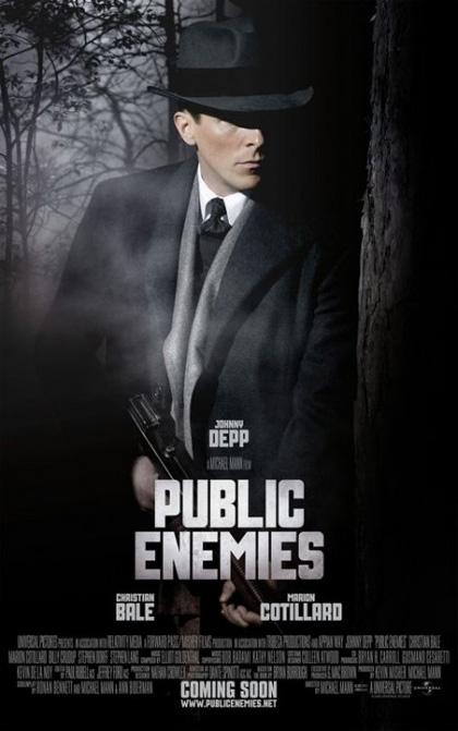 In foto Christian Bale (47 anni) Dall'articolo: Pubblic Enemies: usciti i character poster.