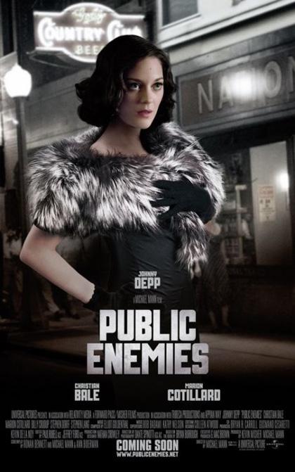 In foto Marion Cotillard (43 anni) Dall'articolo: Pubblic Enemies: usciti i character poster.