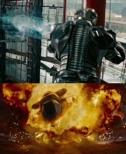 Due immagini del film -  Dall'articolo: G.I. Joe: The Rise of Cobra, novità sul comandante Cobra.