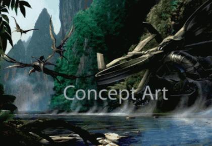 Uno sguardo a Pandora -  Dall'articolo: Nuovi concept art ufficiali del film Avatar.