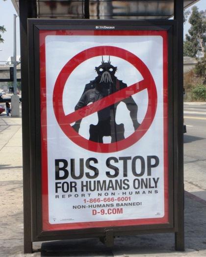 La campagna virale -  Dall'articolo: District 9: le immagini della campagna virale.