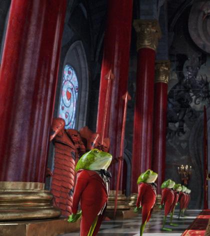 Una scena del film -  Dall'articolo: Alice in Wonderland: i concept art e i character still.