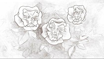 Fase uno dei fiori -  Dall'articolo: Alice in Wonderland: i concept art e i character still.
