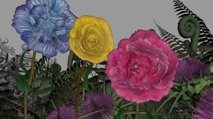 Fase due dei fiori -  Dall'articolo: Alice in Wonderland: i concept art e i character still.