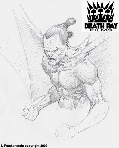 Un concept art di Tatopoulos -  Dall'articolo: I, Frankenstein: Tatopoulos e Grevioux ancora insieme.