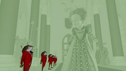 4° fase della 2° progressione della Regina di Cuori -  Dall'articolo: Alice in Wonderland: nuove featurette e 'Almost Alice' di Avril Lavigne.