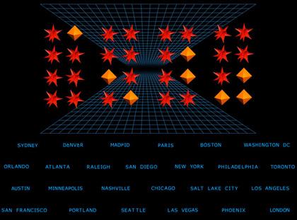Un evento a livello mondiale -  Dall'articolo: Tron Legacy: una campagna virale a livello mondiale.