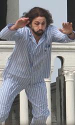 Lo stuntman si lancia dalla Loggia -  Dall'articolo: The Tourist: le riprese di Depp inseguito in Campo della Pescheria.