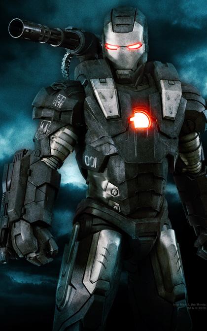 Il wallpaper di War Machine -  Dall'articolo: Iron Man 2: una featurette sottotitolata in italiano.