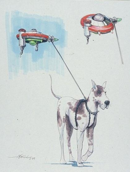 Un concept art -  Dall'articolo: Ritorno al futuro parte II: concept art della Delorean e dell'Hoverboard.
