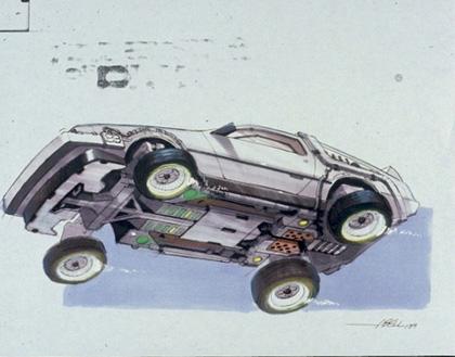 Un concept art della Delorean -  Dall'articolo: Ritorno al futuro parte II: concept art della Delorean e dell'Hoverboard.