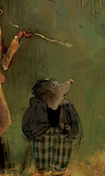 Mr. Fox e Kylie -  Dall'articolo: Fantastic Mr. Fox: i concept art di Chris Appelhans.