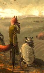Mr Fox e Kylie -  Dall'articolo: Fantastic Mr. Fox: i concept art di Chris Appelhans.