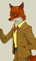 Kylie e Mr Fox -  Dall'articolo: Fantastic Mr. Fox: i concept art di Chris Appelhans.