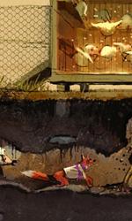 La rapina da Boggis -  Dall'articolo: Fantastic Mr. Fox: i concept art di Chris Appelhans.