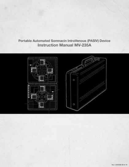 Il manuale del dispositivo PASIV -  Dall'articolo: Inception: Mind Crime rivela nuove foto e un video virale.