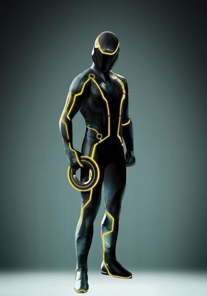 Il giocatore del lancio del disco -  Dall'articolo: Tron Legacy: Space Paranoids è online.
