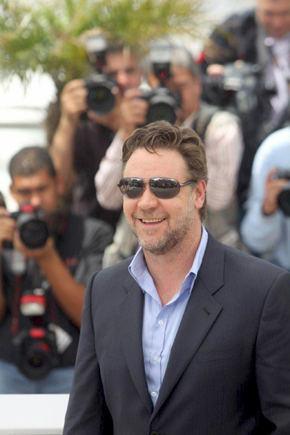 In foto Russell Crowe (56 anni) Dall'articolo: Robin Hood: il photocall.