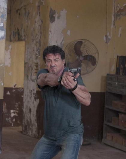 In foto Sylvester Stallone (73 anni) Dall'articolo: The Expendables: l'unica vita che hanno conosciuto è la guerra.