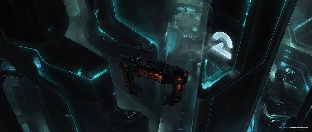 Un concept art -  Dall'articolo: Tron Legacy: il gioco Circuit Cycles indirizza ad un conto alla rovescia.