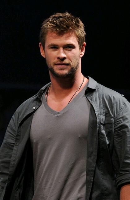 In foto Chris Hemsworth (38 anni) Dall'articolo: Comic-Con 2010: The Avengers, presentato il cast.