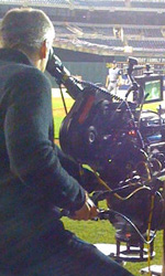 Moneyball: prime foto sul set di Philip Seymour Hoffman - Una delle cineprese da 900,000 $ usate nel film