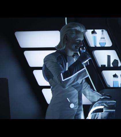 In foto Michael Sheen (49 anni) Dall'articolo: Tron: Legacy, le foto del pre-test di ElecTRONica.