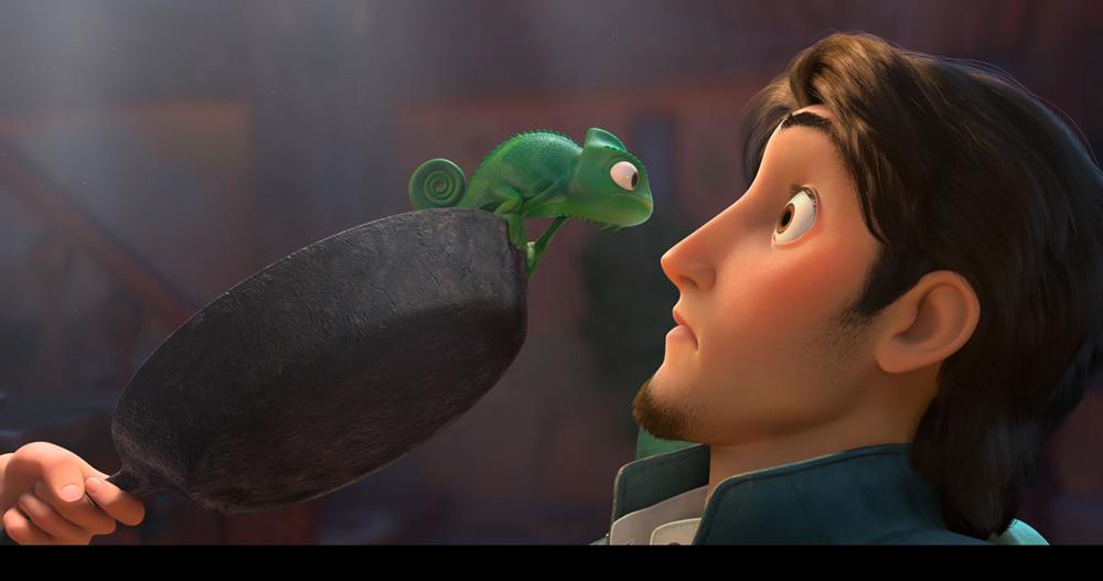 Pascal e Flynn. -  Dall'articolo: La fotogallery di Rapunzel - L'Intreccio della Torre.